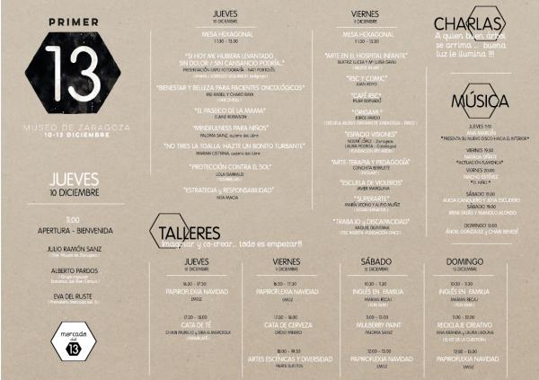 Programa primer mercado del 13 Zaragoza